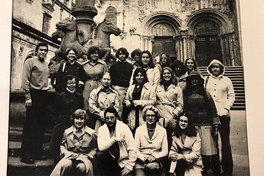 Jerry And Barbara Guidera With Students In Santiago De Compostela Spain Oct 12 1977