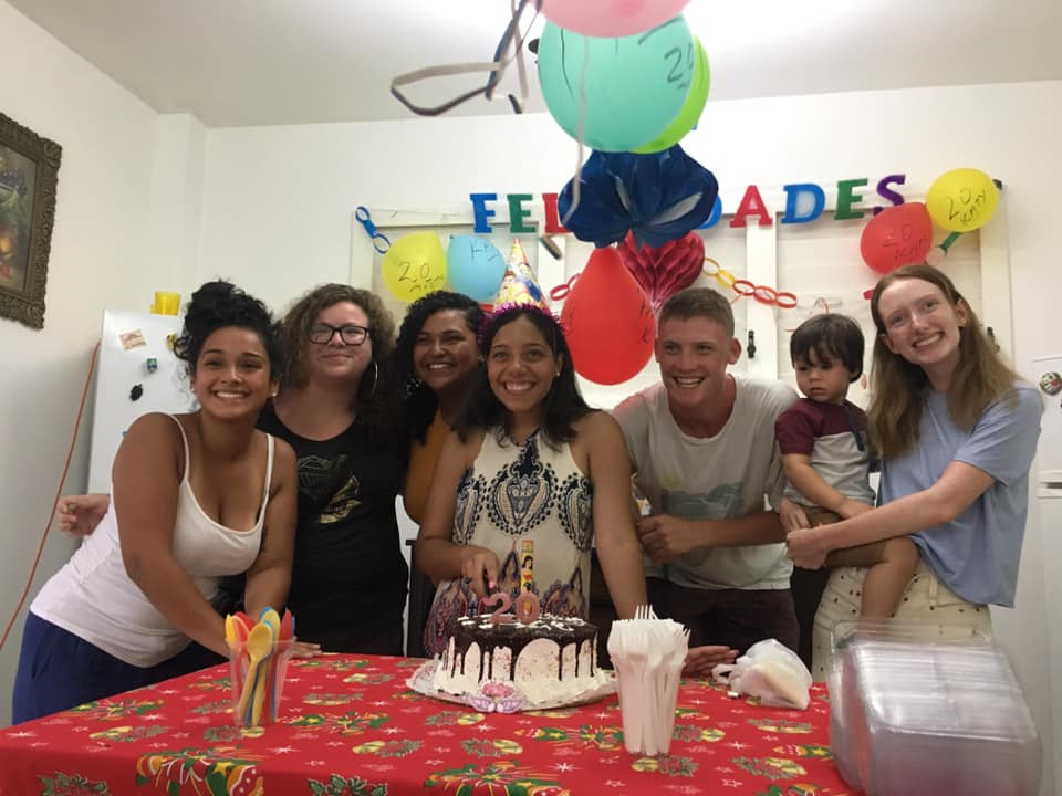 Students In Cuba Celebrating A Birthday With Local Friends And Host Family