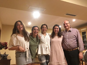 Study Abroad Student With Her Host Family In Seville