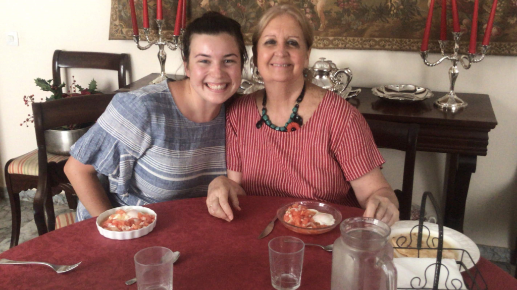 Study Abroad Student With Her Host Mom In Seville