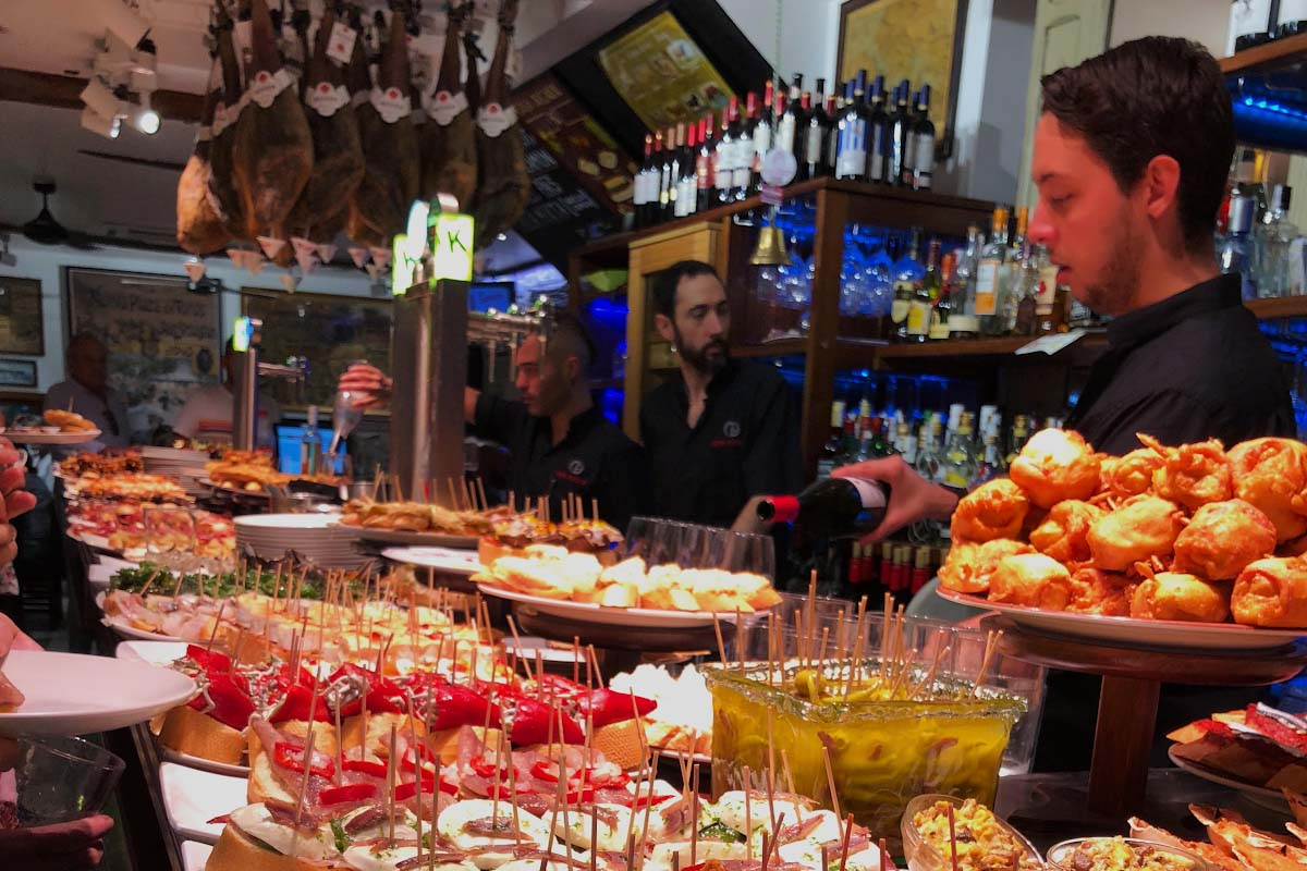 A Local Bar In Seville Serving Typical Cuisine