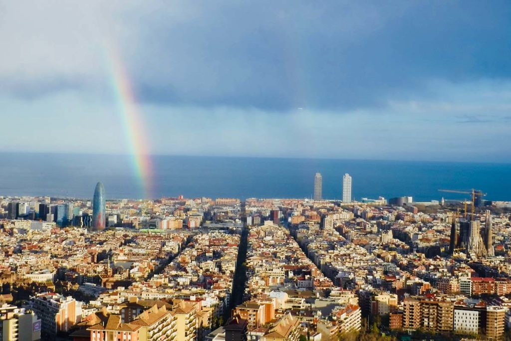 A Sky View Of Barcelona