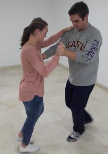 A Study Abroad Student Learning To Dance 'sevillanas'