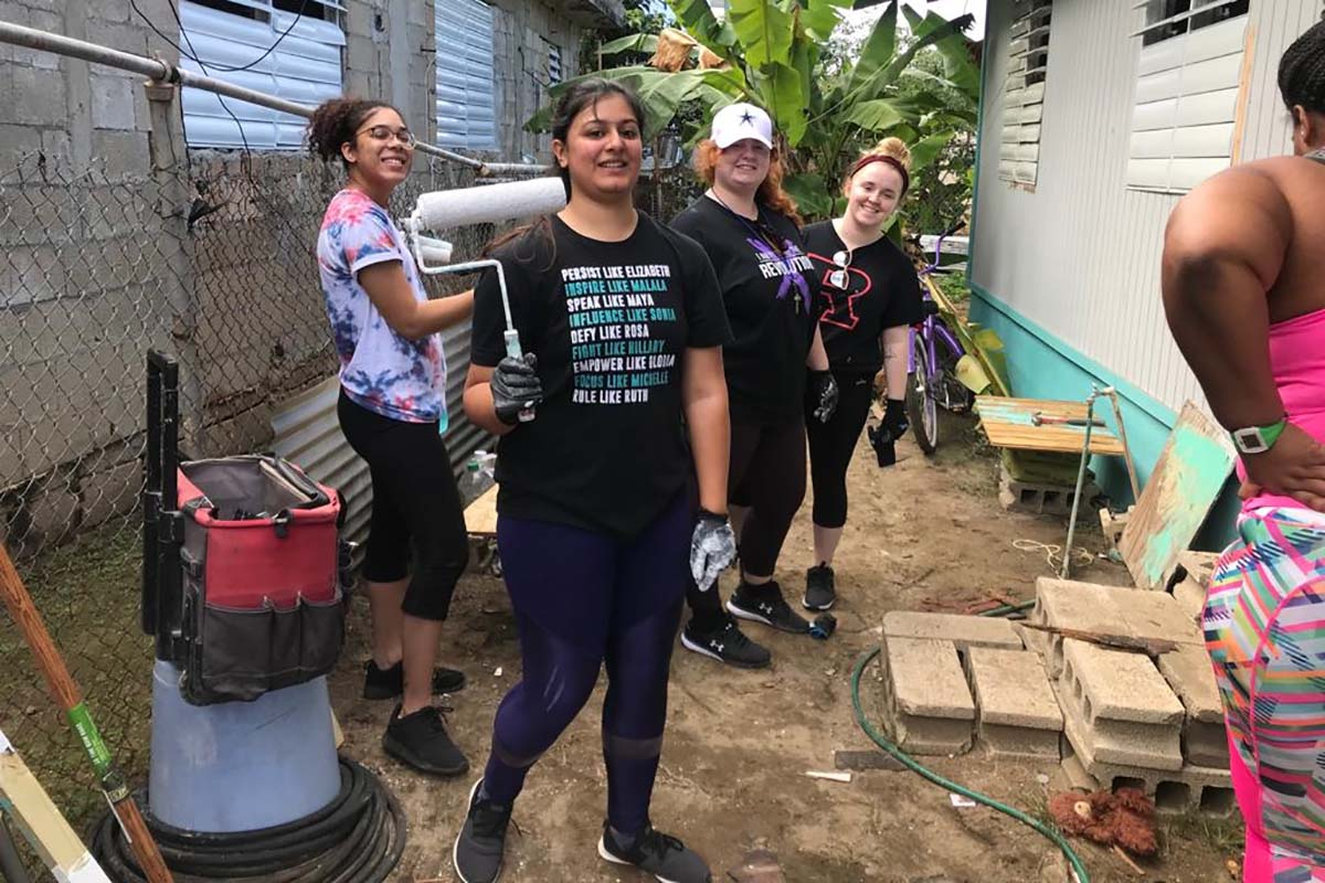 Rutgers University Students On A Service Trip To San Juan, Puerto Rico After Hurricane Maria
