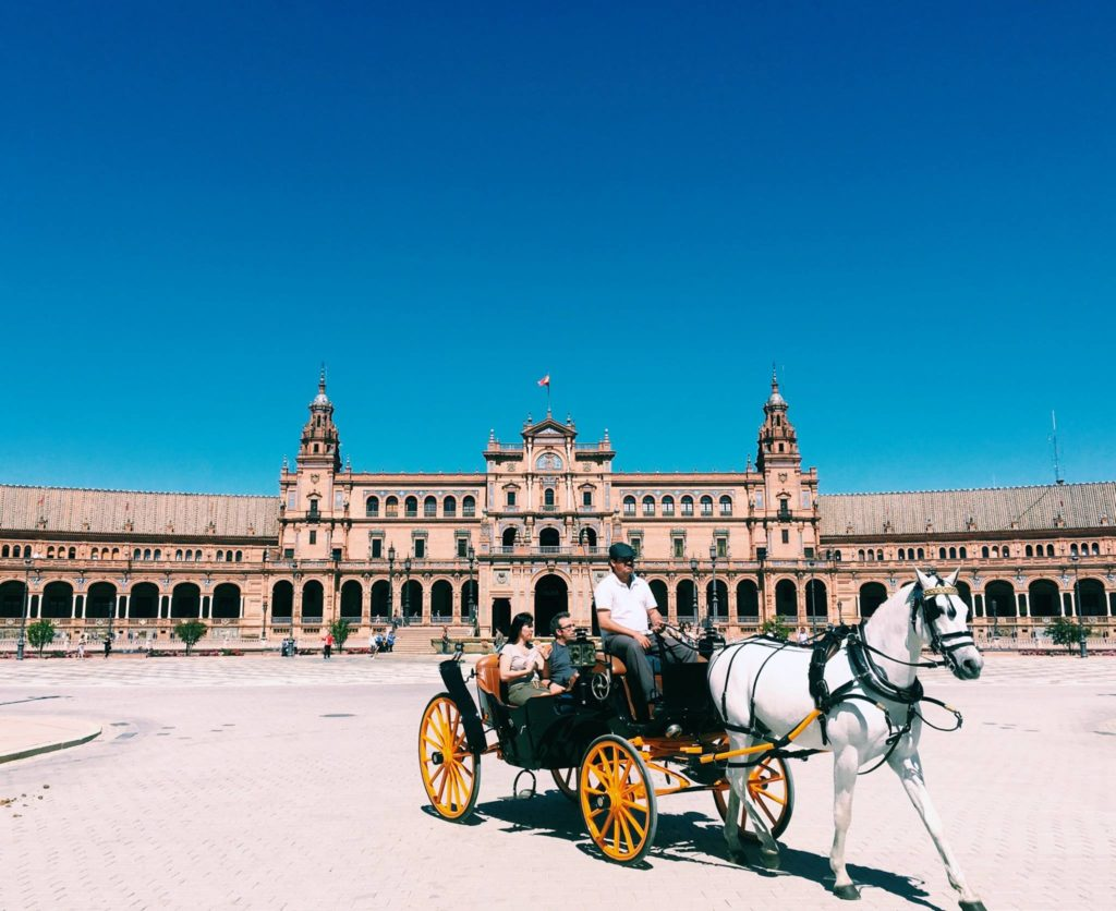 Svq Rebecca (mckay) Richardson Horse And Buggy Plaza De España Seville Intl Usev Spring 2016