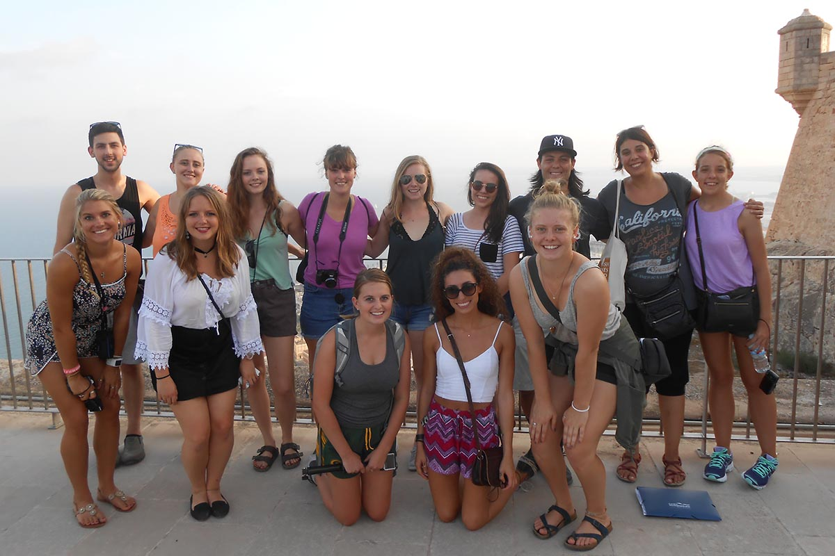 Students Studying Abroad Posing For A Photo