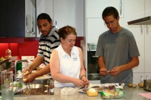 Study Abroad Students Learning To Cook!