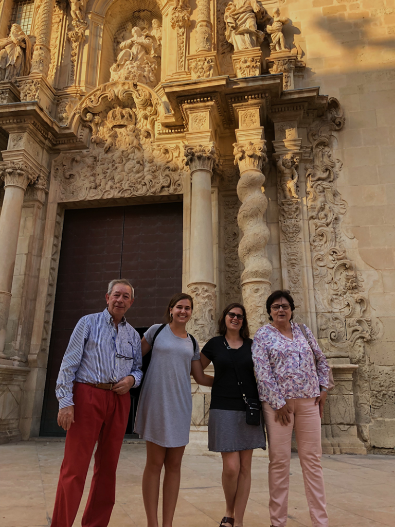 Mom And Host Fam Santa María Lirios And Pepe Gave My Mom A Tour Of Alicante When My Family Had Come To Pick Me Up In May. We Stopped At The Basilica Of Santa María.