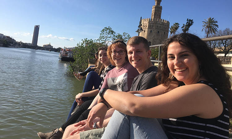 Study Abroad Students In Seville